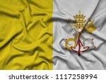 vatican city state flag  is...   Shutterstock . vector #1117258994