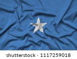 somalia flag  is depicted on a...   Shutterstock . vector #1117259018