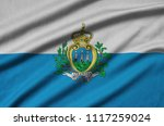 san marino flag  is depicted on ...   Shutterstock . vector #1117259024