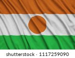 niger flag  is depicted on a...   Shutterstock . vector #1117259090