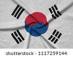 south korea flag  is depicted...   Shutterstock . vector #1117259144