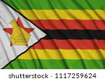 zimbabwe flag  is depicted on a ...   Shutterstock . vector #1117259624
