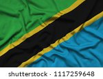 tanzania flag  is depicted on a ...   Shutterstock . vector #1117259648