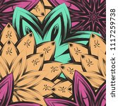 seamless floral background.... | Shutterstock .eps vector #1117259738