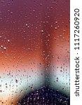 water rain drops on the window...   Shutterstock . vector #1117260920