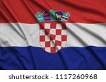 croatia flag  is depicted on a...   Shutterstock . vector #1117260968