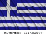 greece flag  is depicted on a...   Shutterstock . vector #1117260974