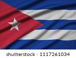 cuba flag  is depicted on a...   Shutterstock . vector #1117261034