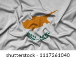 cyprus flag  is depicted on a...   Shutterstock . vector #1117261040