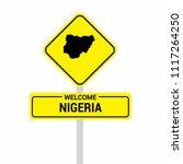 nigeria traffic signs board... | Shutterstock .eps vector #1117264250