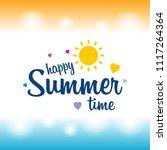 happy summer greetings card... | Shutterstock .eps vector #1117264364