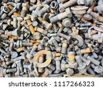 scrap car and machinery parts....   Shutterstock . vector #1117266323