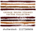 long ink brush strokes isolated ... | Shutterstock .eps vector #1117268606