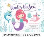 kids birthday party invitation... | Shutterstock .eps vector #1117271996