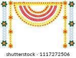 traditional indian flower... | Shutterstock .eps vector #1117272506