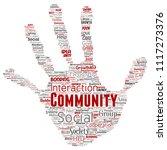 vector conceptual community ... | Shutterstock .eps vector #1117273376