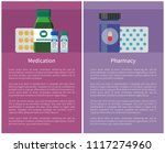 pharmacy and medication items... | Shutterstock .eps vector #1117274960