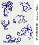 calligraphic design element and ... | Shutterstock .eps vector #111727580