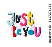 just be you abstract quote... | Shutterstock .eps vector #1117276286