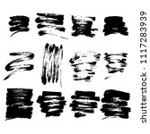abstract set of black ink blot. ... | Shutterstock .eps vector #1117283939