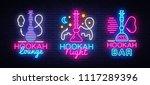 hookah neon signs collection... | Shutterstock .eps vector #1117289396