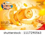 closeup of cheese puffs section ... | Shutterstock .eps vector #1117290563