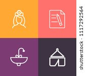 modern  simple vector icon set... | Shutterstock .eps vector #1117292564