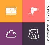 modern  simple vector icon set... | Shutterstock .eps vector #1117293770