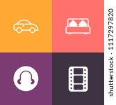modern  simple vector icon set... | Shutterstock .eps vector #1117297820
