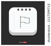 flag mark icon   free vector...