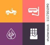 modern  simple vector icon set...   Shutterstock .eps vector #1117301090