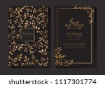 elegant gold invitation | Shutterstock .eps vector #1117301774