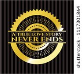 a true love story never ends... | Shutterstock .eps vector #1117301864
