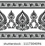 seamless black and white border   Shutterstock .eps vector #1117304096