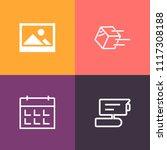 modern  simple vector icon set... | Shutterstock .eps vector #1117308188