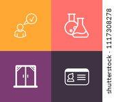 modern  simple vector icon set... | Shutterstock .eps vector #1117308278