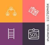 modern  simple vector icon set... | Shutterstock .eps vector #1117309454