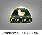 shiny emblem with rubber duck... | Shutterstock .eps vector #1117311503