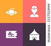 modern  simple vector icon set... | Shutterstock .eps vector #1117313444