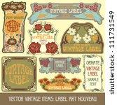 vector vintage items  label art ... | Shutterstock .eps vector #111731549