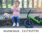cute little smart asian 2 years ... | Shutterstock . vector #1117315733