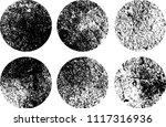 set of grunge textures in black ... | Shutterstock .eps vector #1117316936