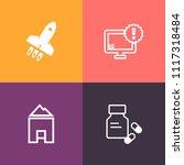 modern  simple vector icon set... | Shutterstock .eps vector #1117318484