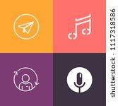 modern  simple vector icon set... | Shutterstock .eps vector #1117318586