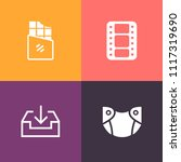 modern  simple vector icon set... | Shutterstock .eps vector #1117319690