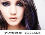 portrait of beautiful young... | Shutterstock . vector #111732326