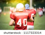 american football players in... | Shutterstock . vector #1117323314