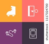 modern  simple vector icon set... | Shutterstock .eps vector #1117324700