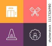 modern  simple vector icon set...   Shutterstock .eps vector #1117326980