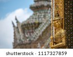 giant guardian statue in wat... | Shutterstock . vector #1117327859